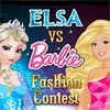 Play free games for kids Elsa vs Barbie Fashion Contest