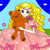 Princess And Bear Coloring